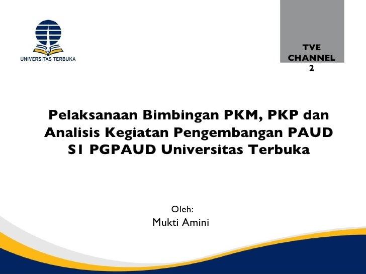 TVE                             CHANNEL                                2Pelaksanaan Bimbingan PKM, PKP danAnalisis Kegiata...