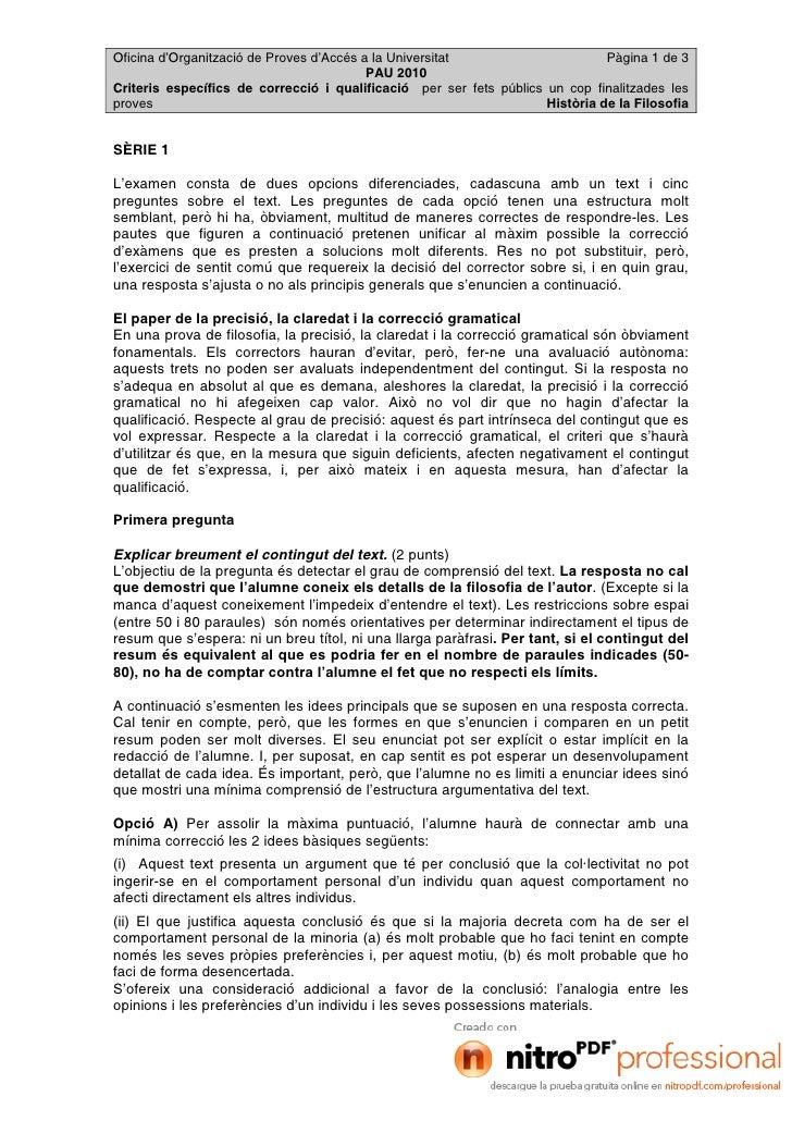 Oficina d'Organització de Proves d'Accés a la Universitat                      Pàgina 1 de 3                              ...