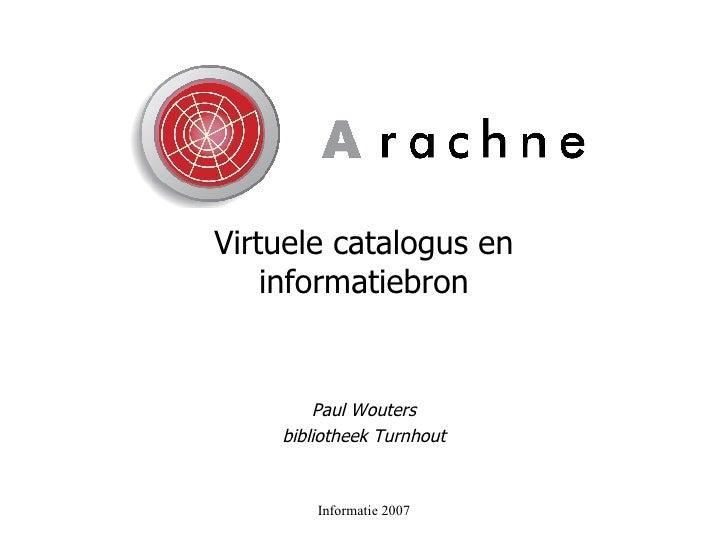 Virtuele catalogus en informatiebron Paul Wouters bibliotheek Turnhout