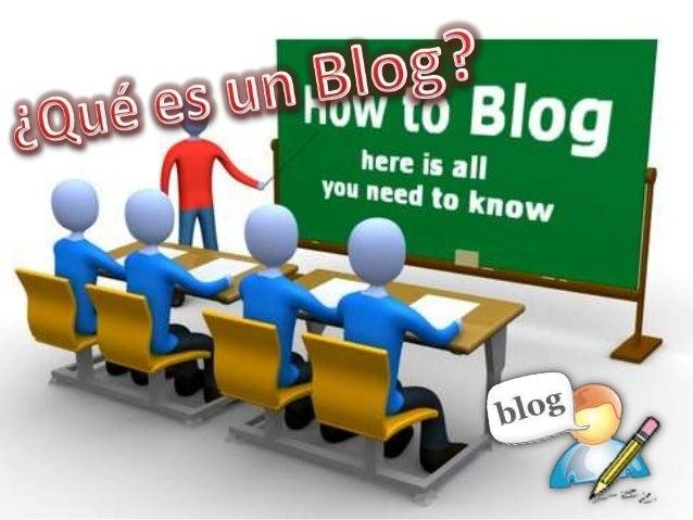 El blog es un espacio personal donde podemos escribir ideas u opiniones, lo podemos compartir para que otros lectores lo l...
