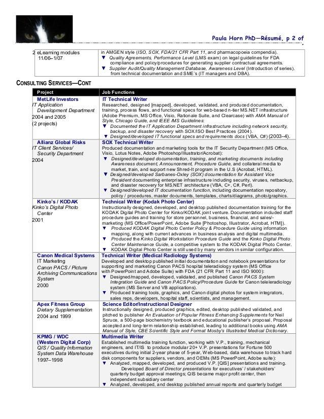 Instructional designer resume