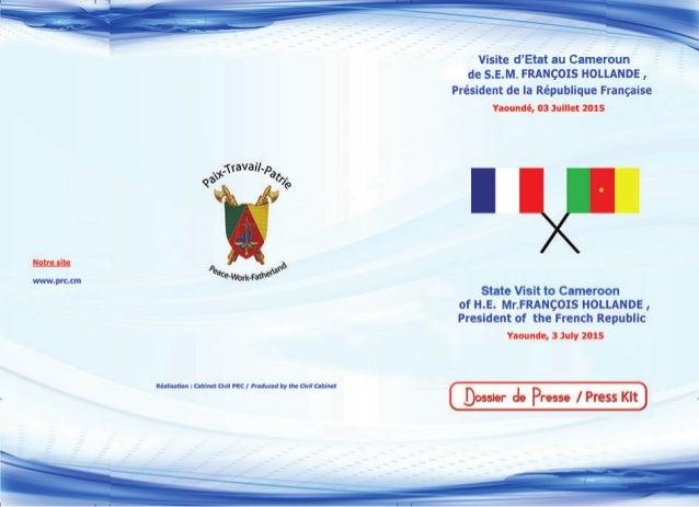 REPUBLIQUEDU CAMEROUN Paix - Travail - Patrie ------- CABINET CIVIL ------- Cellule de communication REPUBLIQUE OF CAMEROO...