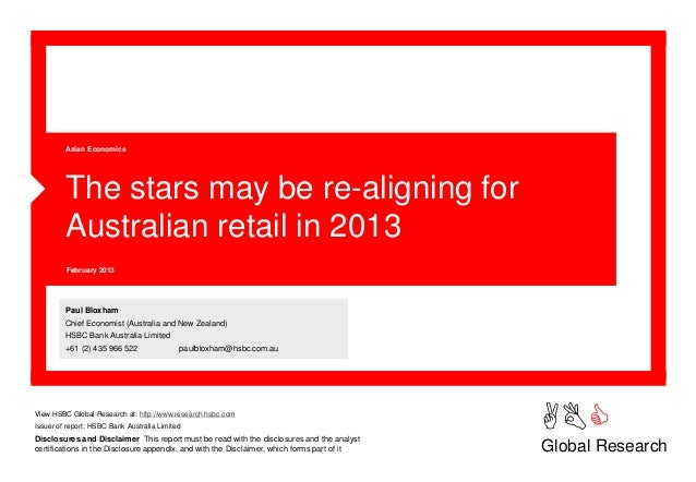 Asian Economics         The stars may be re-aligning for         Australian retail in 2013         February 2013         P...