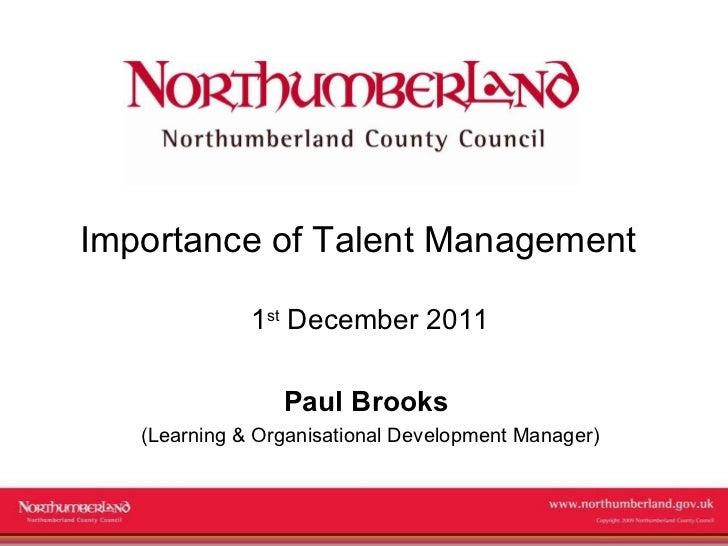 Totara Seminar: Paul Brooks, Northumberland