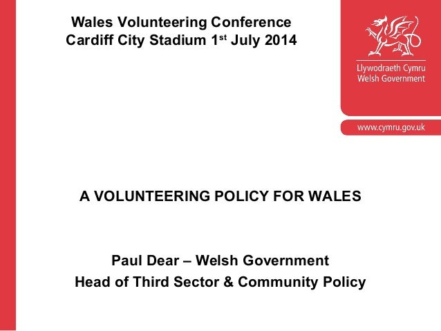 A Volunteering policy for Wales