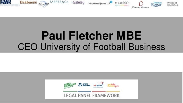 Paul Fletcher MBE CEO University of Football Business