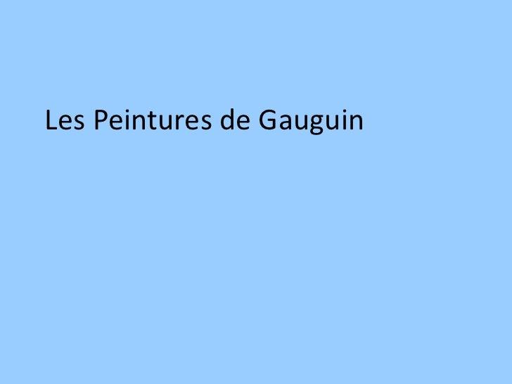 Les Peintures de Gauguin
