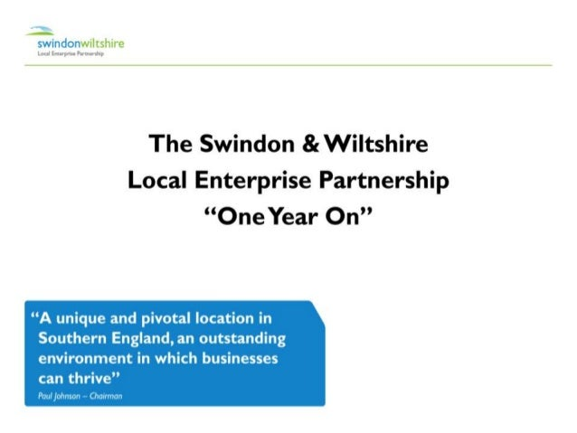 Paul Johnson, Swindon and Wiltshire LEP, One Year On