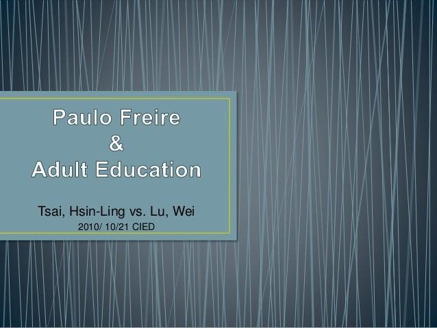 Tsai, Hsin-Ling vs. Lu, Wei 2010/ 10/21 CIED