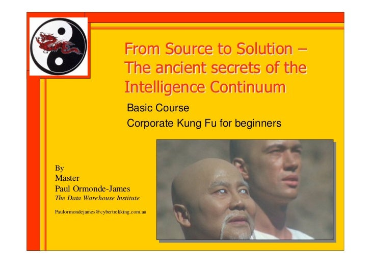 From Source to Solution –                            The ancient secrets of the                            Intelligence Co...