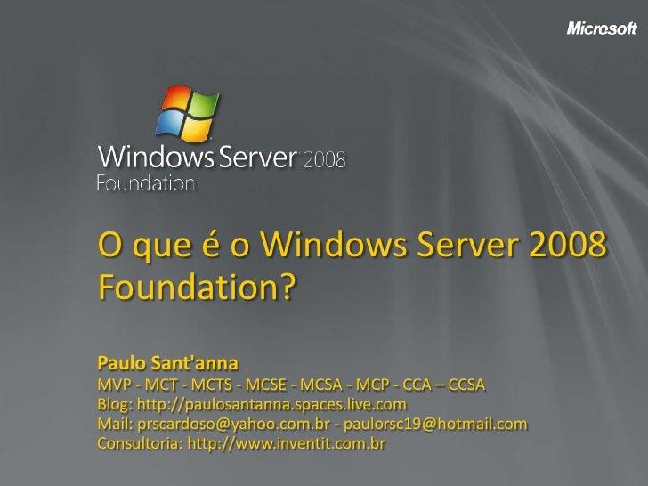 Paulo Santanna   Nsi   Ws08 Foundation