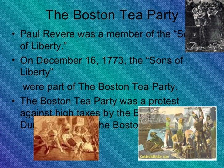 Boston tea party date in Melbourne