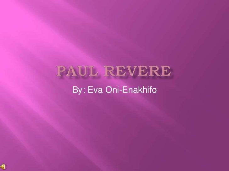 Paul revere power point