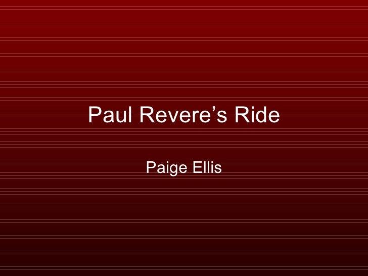 Paul Revere's Ride Paige Ellis