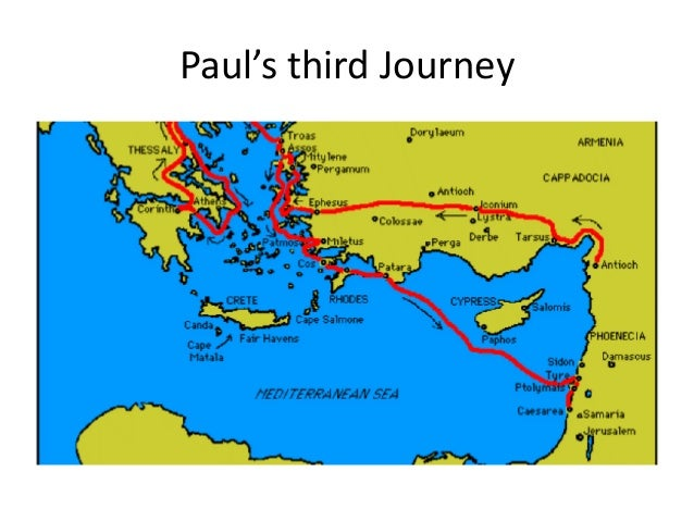 three journeys of paul essay The third missionary journey-- after allowing the winter to pass, paul started his 3rd missionary journey in the spring of 52 ad paul's journey brought him to ephesus where he stayed for 2 years and 3 months.