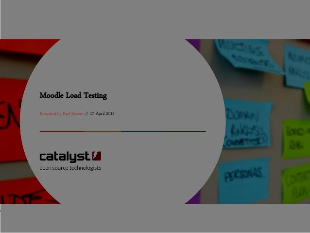Moodle Load Testing Presented by Paul Stevens // 17 April 2014