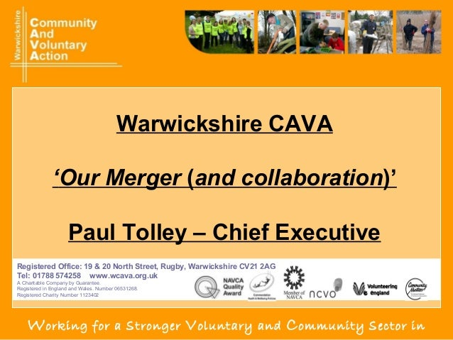 Paul tolley   wcava merger