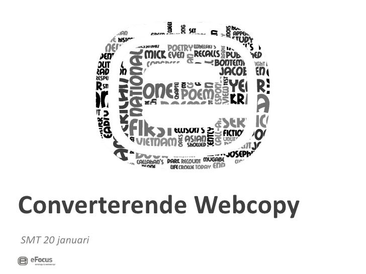 <ul><li>SMT 20 januari </li></ul>Converterende Webcopy