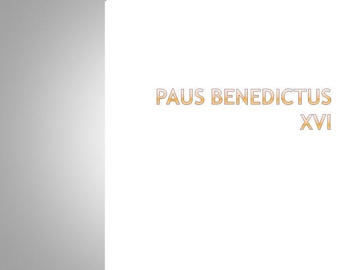 Paus Benedictus Xvi 2007