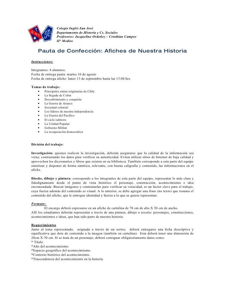 Colegio Inglés San José                   Departamento de Historia y Cs. Sociales                   Profesores: Jacqueline...