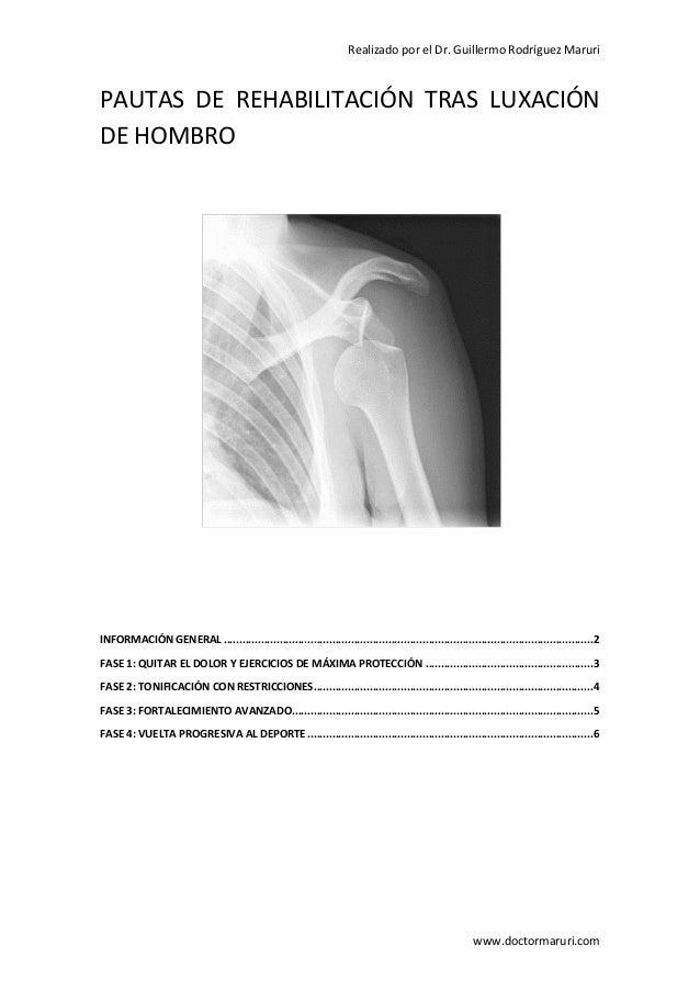Pauta de rehabilitacion para inestabilidad de hombro