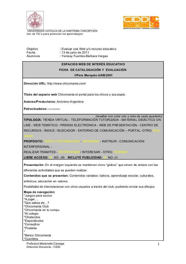 Pauta evaluacion web 1