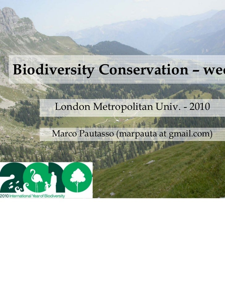 Agriculture, forestry and biodiversity conservation
