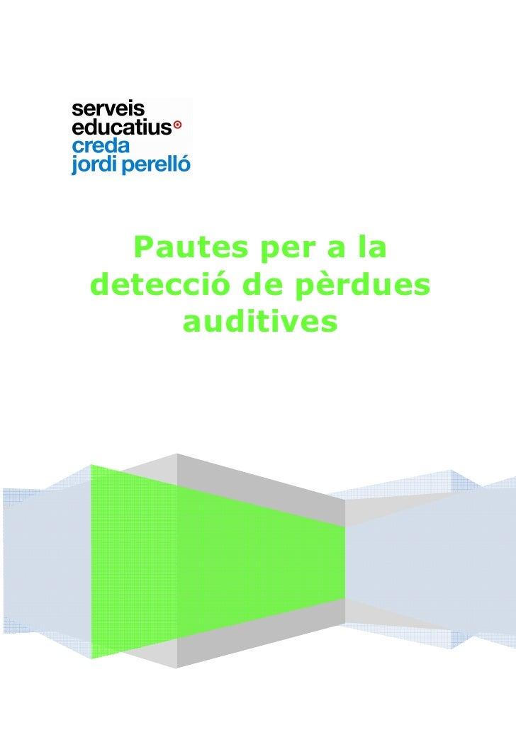 Pautes pèrdues auditives 2011 (1)