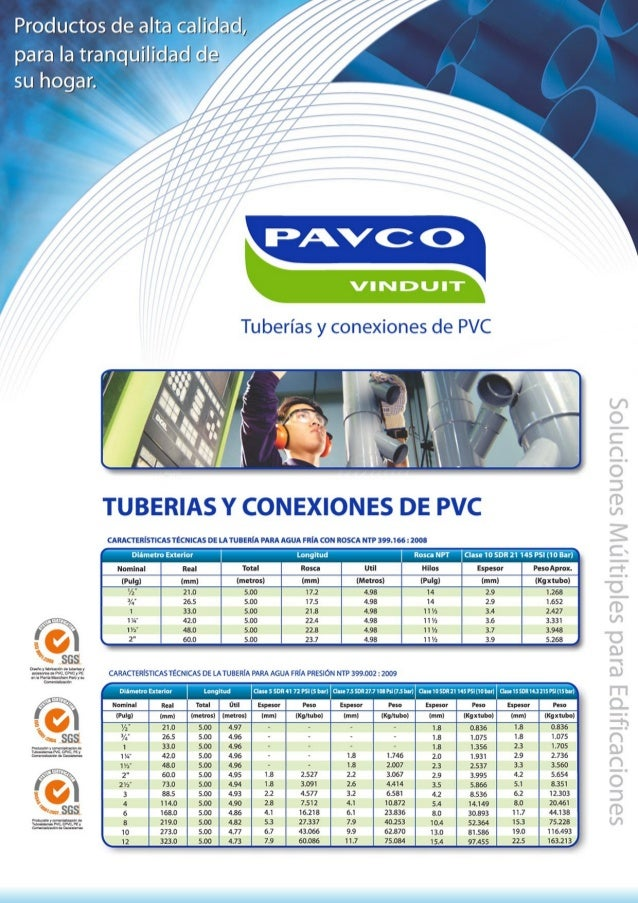 Pavco tub pvc edificaciones 2013 - Tuberia agua potable ...