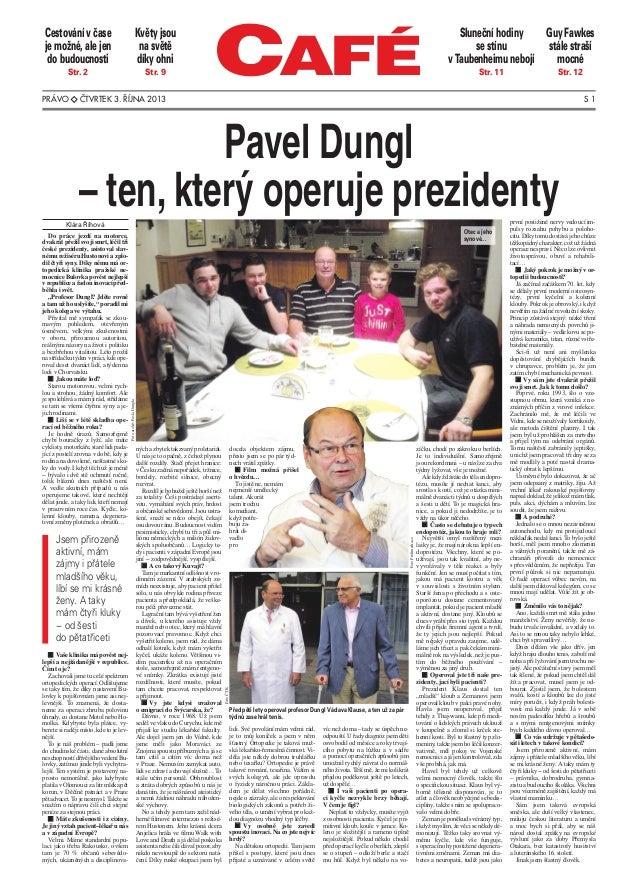 Článek v příloze Café deníku Právo (3.10.2013)