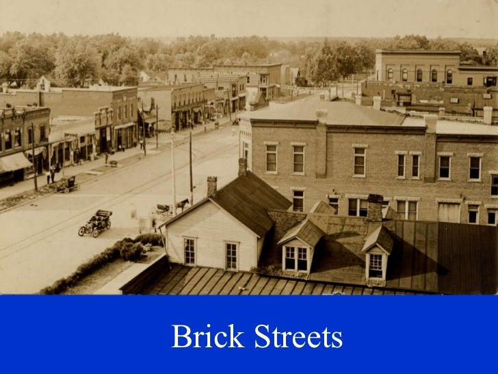 Brick Streets in Homer Illinois