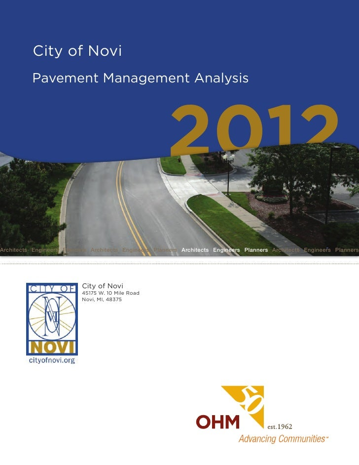 City of Novi          Pavement Management Analysis                                                       2012Architects En...