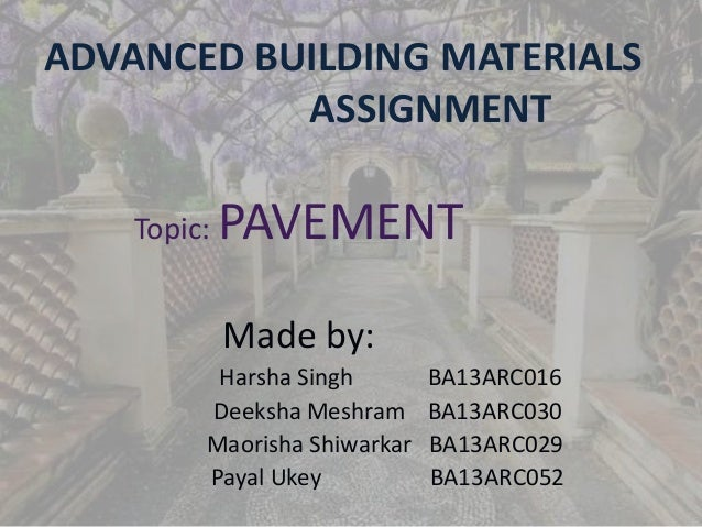 Advanced Building Materials