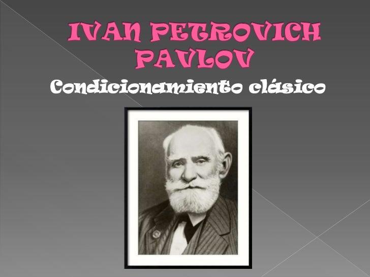 teoría de pavlov