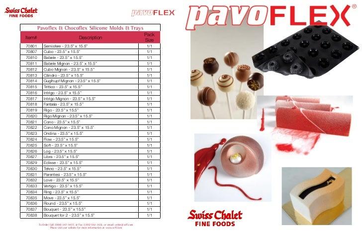 Pavoflex & Chocoflex Silicone Molds & Trays                                                                               ...