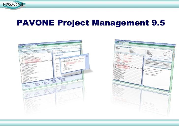 PAVONE Project Management 9.5