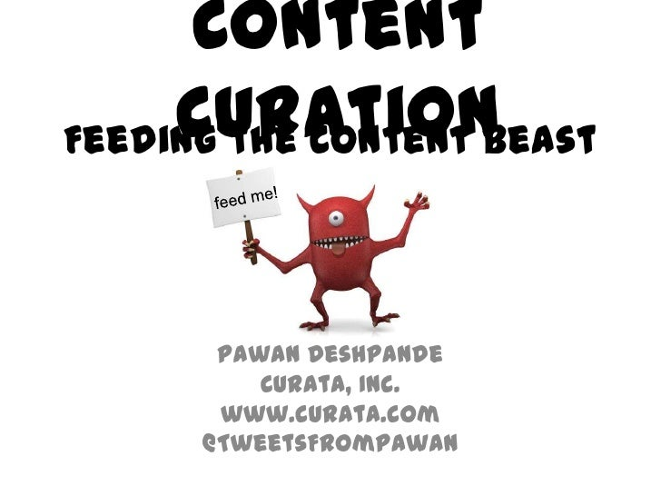 Pawan content marketing now conf 2012 - curation_day1