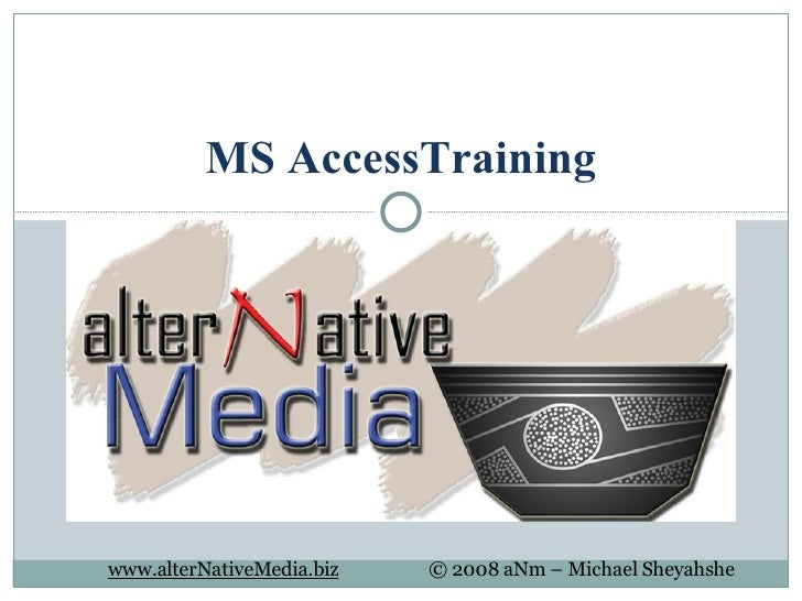 MS Access Training