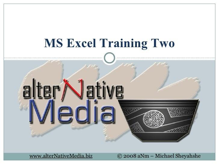 MS Excel Training 02