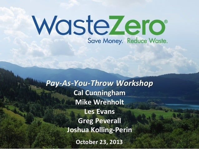 Pay-As-You-Throw Workshop