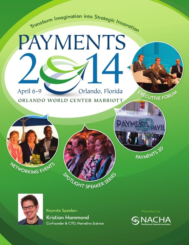 NACHA PAYMENTS 2014 Conference Brochure