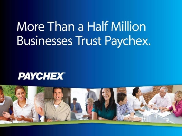 Paychex Presentation To Small Business