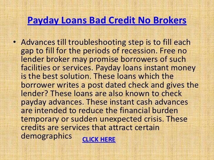 Payday loans bad credit no brokers