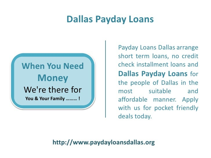 Dallas loans payday