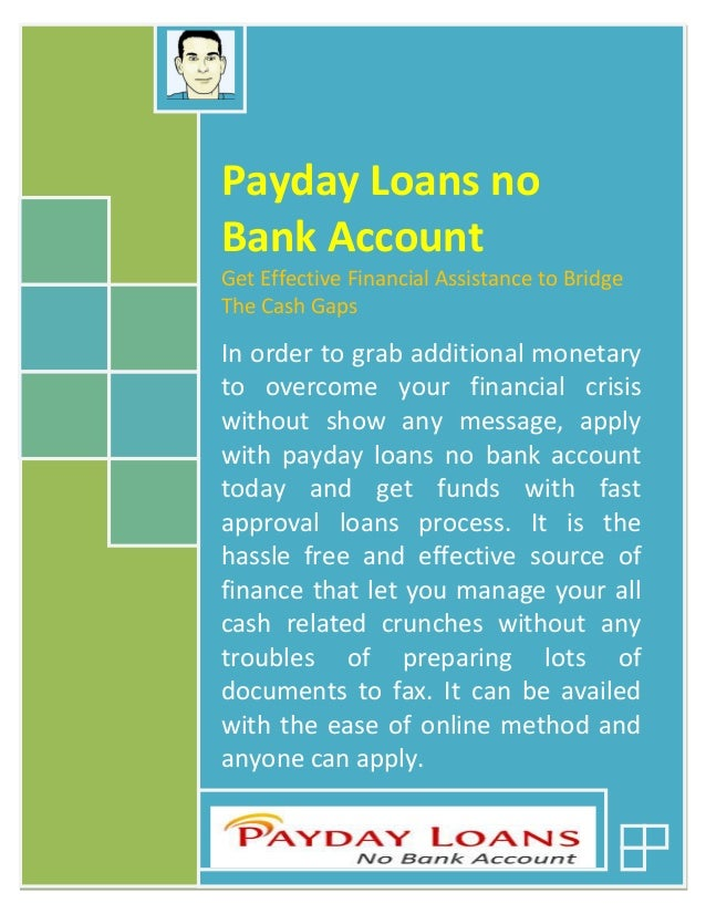 Can I Get A Payday Loan Without Checking Account