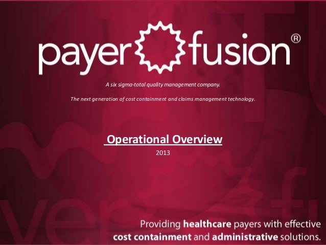 PayerFusion Operational Overview