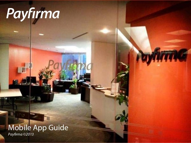 Payfirma Mobile Payment App