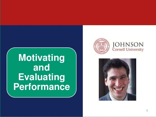 1 Motivating and Evaluating Performance