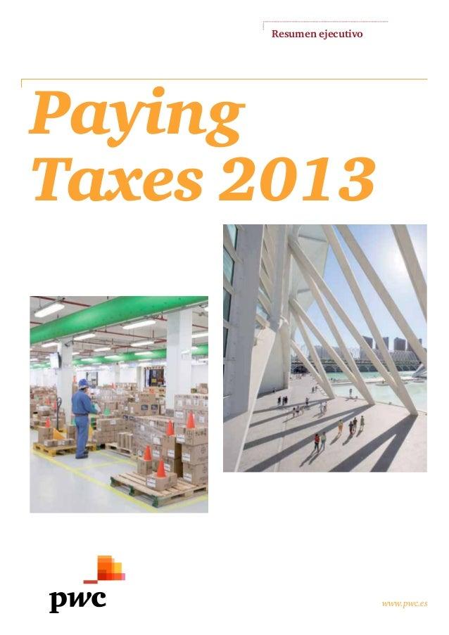 Informe PwC: Paying taxes 2013
