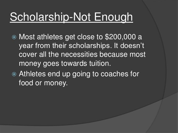 Persuasive essay on not paying college athletes